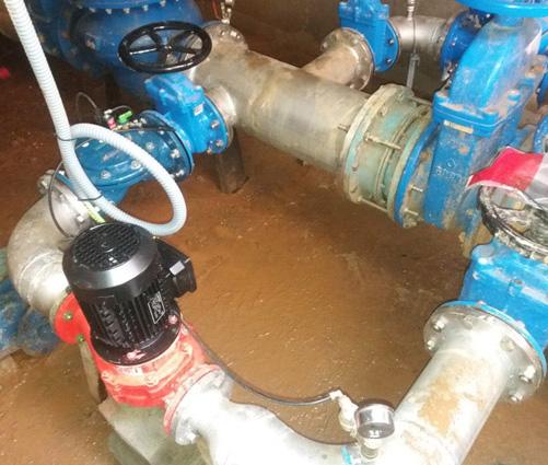 Turbina deposito de agua palma del rio