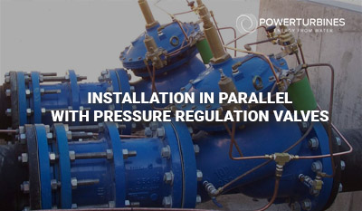 installation parallel with pressure regulation valves