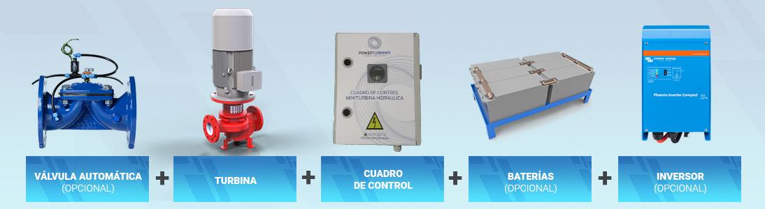 componentes carga baterías