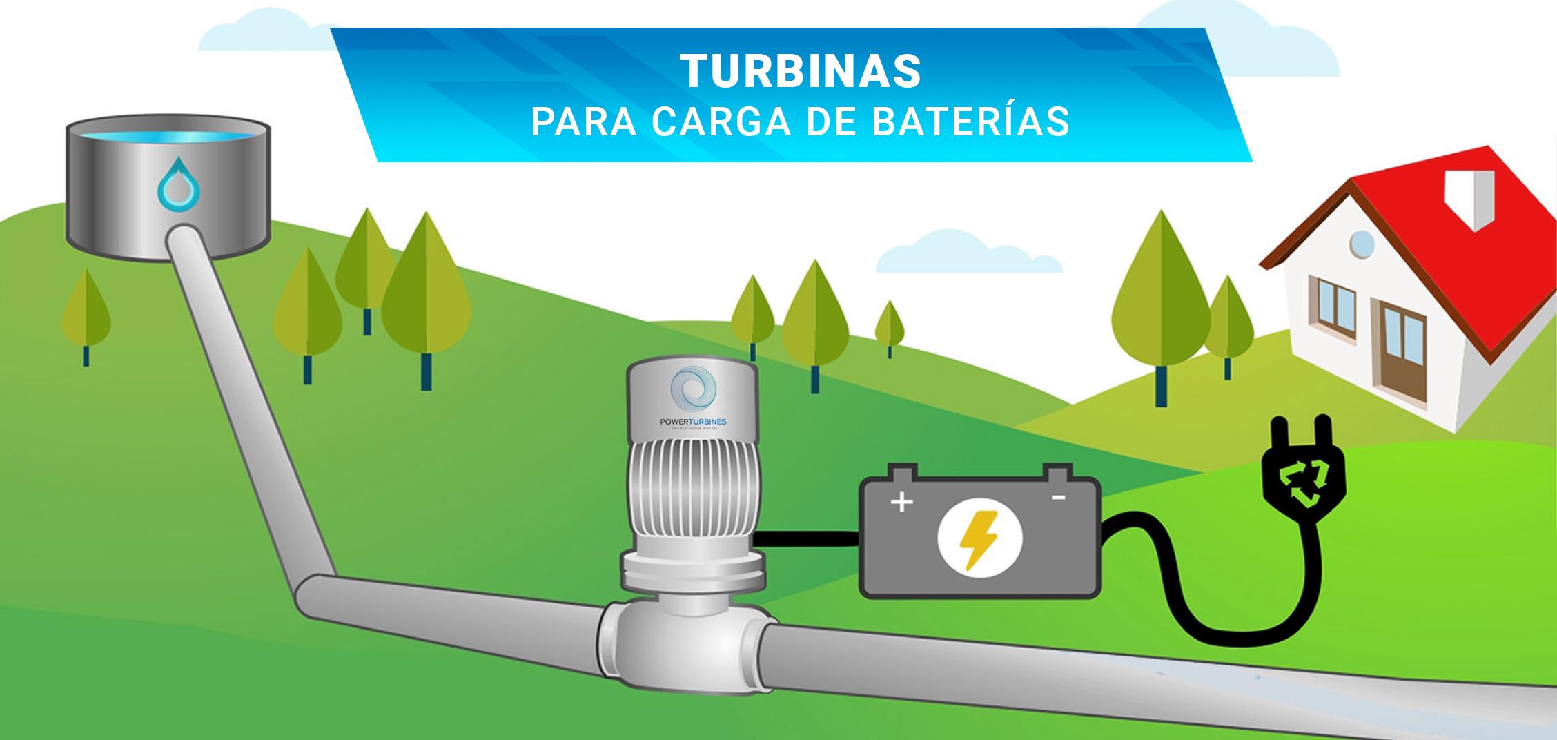 Turbinas para carga de baterías