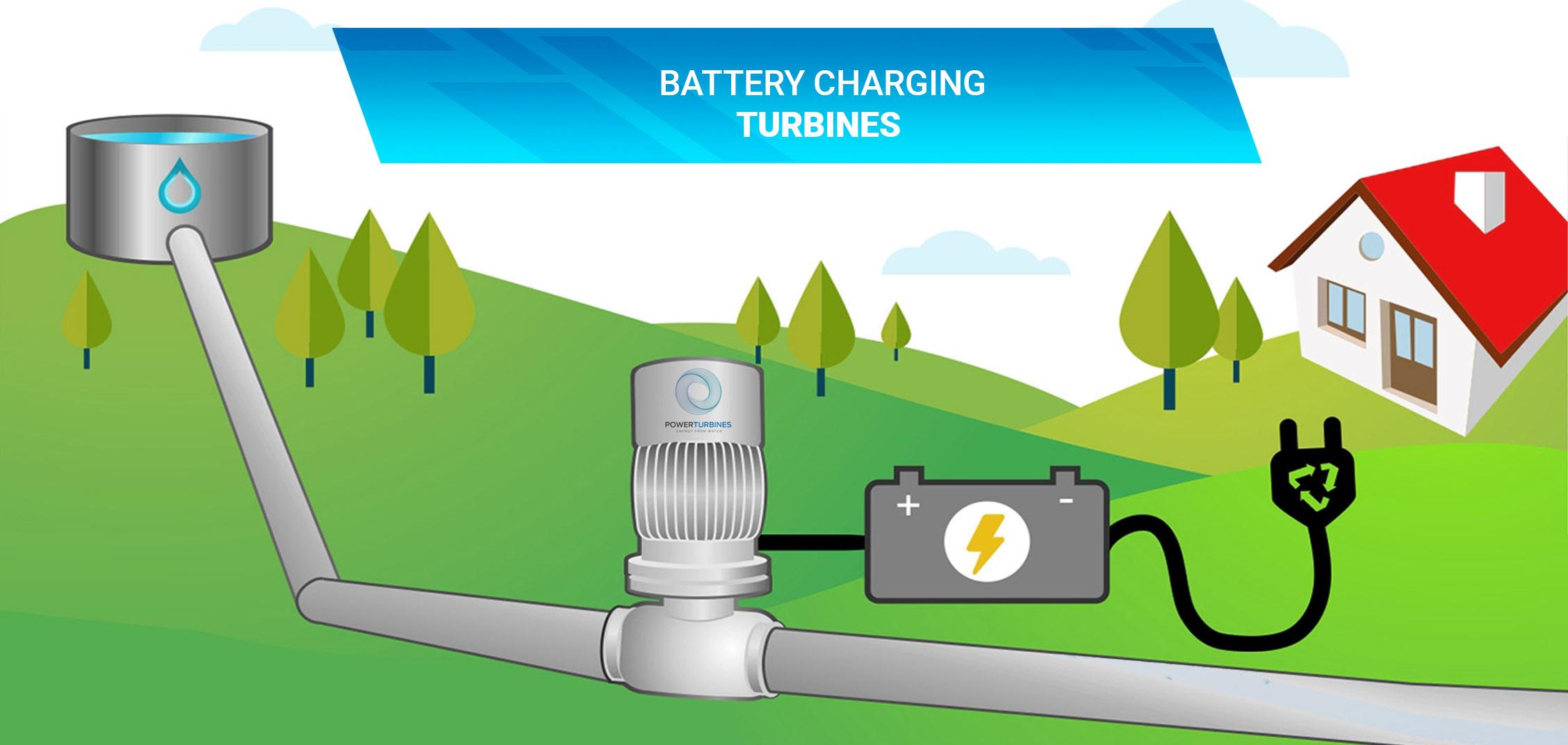 BAttery charging turbines