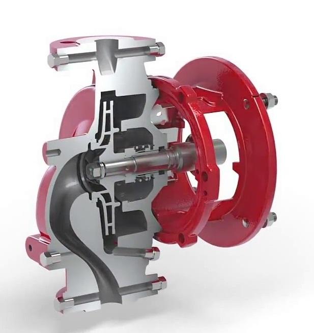 seccion turbina hidraulica