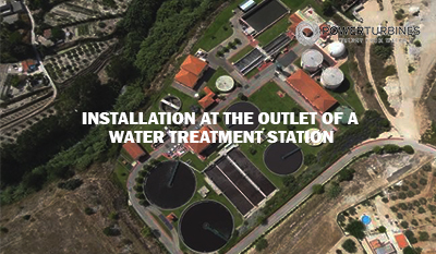 installation at the outlet of a water treatment station